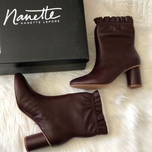 Nanette Nanette Lepore Plum Leather Glory Boot